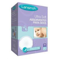 Absorventes para Seios Descartáveis Ultra Soft - 12 Unidades - Lansinoh -