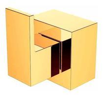 Acabamento Quadrado Alavanca para Registro Padrão Deca 3/4 - Dourado - Jiwi Metais