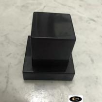 """Acabamento Quadrado PRETO em ABS para Registro de base padrão Deca 1/2"""" ou 3/4"""" pressão ou gaveta - TAPS"""