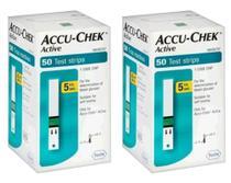 Accu-Chek Active 100 tiras reagentes ( 2 caixas com 50) - Roche