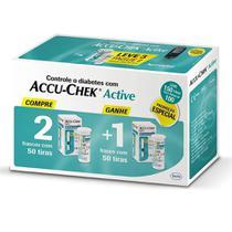 Accu-Chek Active 3 Frasco com 50 Tiras Reagentes - Roche