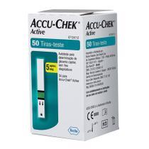 ACCU-CHEK ACTIVE GLICOSE 50 TIRAS-TESTE  Para o controle da Diabetes - ROCHE