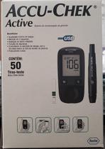 Accu-Chek Active Kit Monitor de Glicemia Completo c/50 Tiras+01Lancetador+01Monitor+10 lancetas - Roche