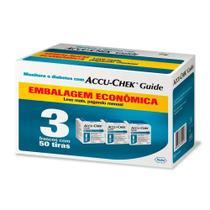 Accu Chek Guide Roche 3 Frascos Com 50 Tiras Embalagem Economica -