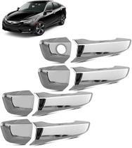 Acessorios Aplique Maçaneta Cromado Honda Civic 2017 18 19 - Prime