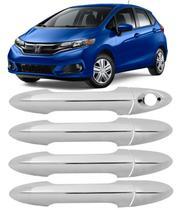 Acessorios Aplique Maçaneta Cromado Honda Fit 2015 a 2020 - Prime