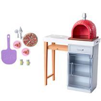 Acessórios de Boneca - Barbie - Móveis de Casa - Forno de Pizza - Mattel -