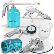 Acessórios P/compressor Stels 5pç Pintura Calibrador -