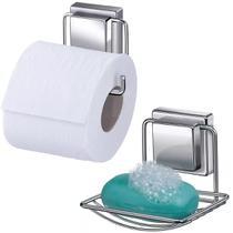 Acessórios Para Banheiro Saboneteira E Papeleira De Ventosas - Arthi