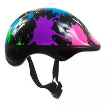 Acessórios Proteção Infantil Capacete Patins Skate Bicicleta Masculino Colors Dm - Dm Toys