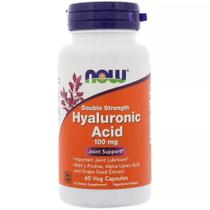 Ácido Hialurônico100mg 2X Plus (60 Capsulas Veganas) Now Foods