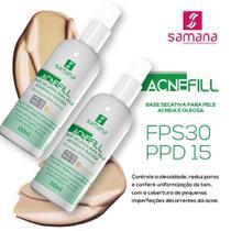 Acne Fill Base Secativa Bege FPS 30 PPD 15 - 100ml - Samana - Samana Dermocosméticos