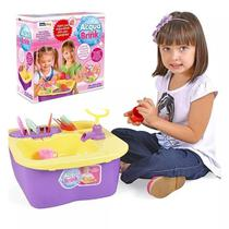 Acqua Brink Pia Cozinha Louças Homeplay XPlast Home Play Brinquedo Infantil 8000 -