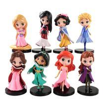 Action Figures Princesas da Disney - Kit Com 8 Personagens -