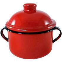 Açucareiro farinheiro esmaltado vermelho 450 gr - metallouça -