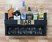 AD -  Bar Mini Simples 35x60 Preto MDF - Redskull
