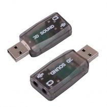 Adaptador 3d Sound USB - Som e Audio Xtrad -