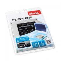 Adaptador AKASA N.Stor S9 para HD 2.5 SATA HDD  SSD, 7mm e 9.5mm - AK-OA2SSA-03 1669 -