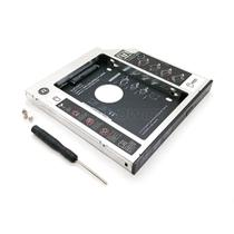 "Adaptador Caddy de 12.7mm Bandeja Interna Substitui Drive de DVD por Segundo HD ou SSD 2.5"" SATA - Exbom"