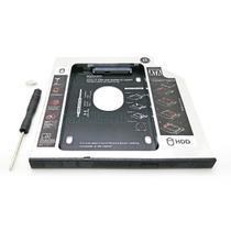 "Adaptador Caddy de 9.5mm Bandeja Interna Substitui Drive de DVD por Segundo HD / SSD 2.5"" SATA Exbom -"