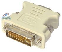 Adaptador Conversor DVI-I para VGA - Dual Link - 24+5 Pinos (DVI-I M X VGA F) - Diversos