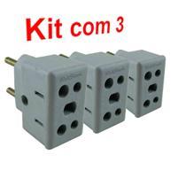 Adaptador de tomadas Universal 10A e 20A Kit 3 un - Webstore