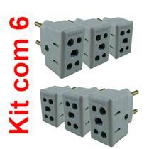 Adaptador de tomadas Universal 10A e 20A Kit 6 un - Webstore