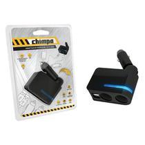 Adaptador Duplo de 12v c/ Saída USB Chimpa -