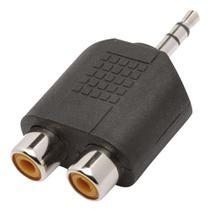 Adaptador Fêmea Rca dupla para Plug P2 Stereo -