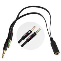 Adaptador Headset para Fone 1 P3 Fêmea para 2 P2 Macho - LOTUS