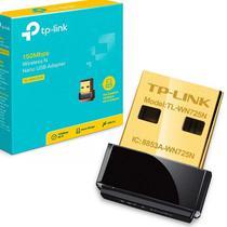 Adaptador Nano USB Wi-Fi TP-Link TL-WN725N de 150MBPS Em 2.4GHZ -