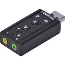 Adaptador Placa De Som USB 7.1 Canais Virtual Ausb71 - Import