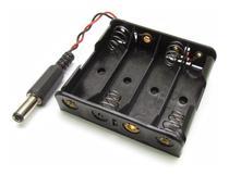 Adaptador / Suporte 4 Pilhas Aa C/ Plug P/ Arduino / Pic - Mj