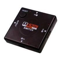 Adaptador Switch HDMI 1x3 Divisor 3 portas Hub para PS4 PS3 XBOX360 TV Tablet Bluray Knup KP-3456 - Importado
