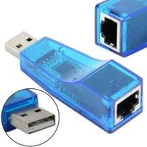 Adaptador USB 2.0 Lan Placa de Rede Externa RJ45-Azul - Exbom