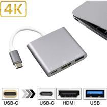 Adaptador USB 3.1 Tipo C Thunderbolt 3.0 X Hdmi USB 3 Tipo C Space Grey - Fly