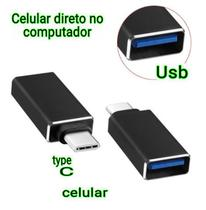 Adaptador Usb 3.1 Type-c Para Usb 3.0 Femea  Celular Notebook tipo C - Eshop8