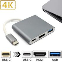 Adaptador Usbc 3.1 Tipo C Thunderbolt 3.0 Hdmi+usb 3 space grey - Uscable