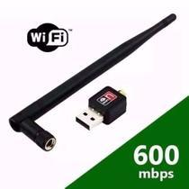Adaptador Wireless USB Sem Fio Antena Wifi 600mdps - Feir