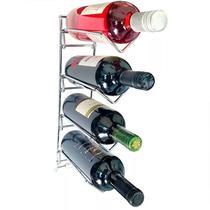 Adega Aramada De Parede 4 garrafas Cromada - 83110 -Duler -