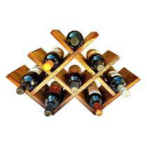 Adega Art Madeira tipo Colmeia para 8 Vinhos Chão Mesa Marrom - Arte em madeira