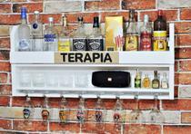 Adega Bar Parede Bebidas Porta Copos Mdf Suporte Garrafas - Redskull