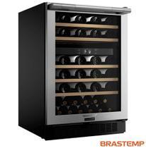 Adega Brastemp Gourmand Dual Zone para 51 Garrafas Inox - BZB51AE -
