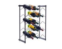 Adega De Vinho Rack Chão Porta 20 Garrafas Metaltru Preta -