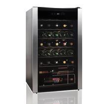 Adega de Vinhos Easy Cooler 127v Inox com Compressor para 34 Garrafas e Controle Digital -