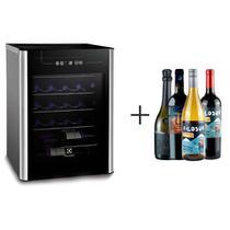 Adega de Vinhos Electrolux para 24 Garrafas com ate 18 C 110V - ACS24 + 4 Vinhos -