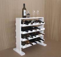 Adega Decorativa Piso Prateleira para Vinhos e Bebidas 20 garrafas - Branco Laca - Formalivre