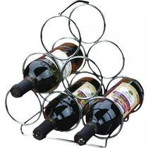Adega Para 6 Garrafas De Vinho Garrafeiro Em Aço Triangular - Zanline