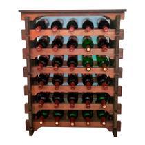 Adega Vinho Madeira 30 Garrafas Tipo Mesinha Cor Imbuia C05 Cevey Adegas e Artesanatos -
