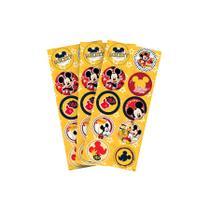 Adesivo 3 Cartelas Redondo Mickey Clássico - Aluá festas
